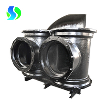ductile iron all flanged tee for pvc pipe