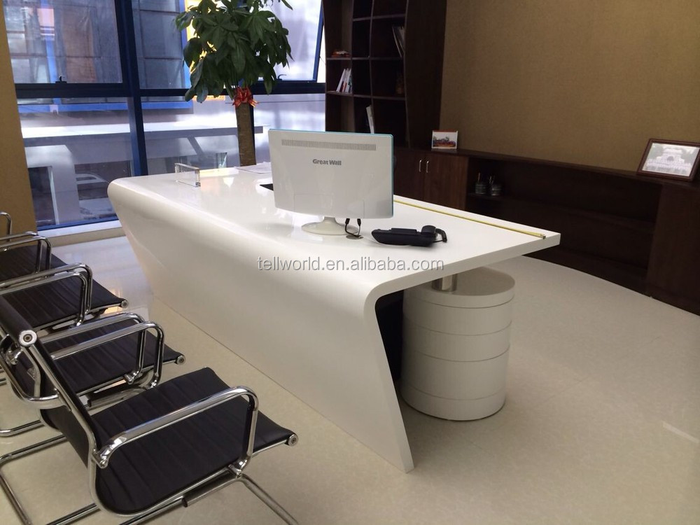 2017 Modern White Executive Table Set Simple Boss Office Desk Furniture