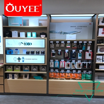Popular Wooden Mobile Accessories Shop Furniture Electronic Shop Cell Phone Accessories Display Showcase Buy Phone Case Display Cell Phone Accessory