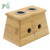chinese acupuncture Bamboo Two Hole Moxibustion Box for Medicine Therapy