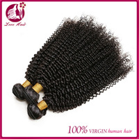 Malaysian Kinky Curly Virgin Weave Human Hair Extension 1PC Bundle Deals Double Weft 100% Unprocessed True To Length