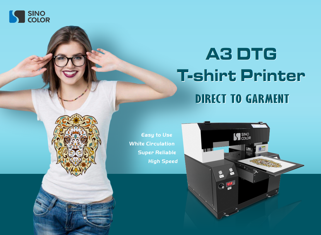 Direct to Garment Printer A3 size DTG Printer Digital Fabric t-shirt Printing Machine TP-300C