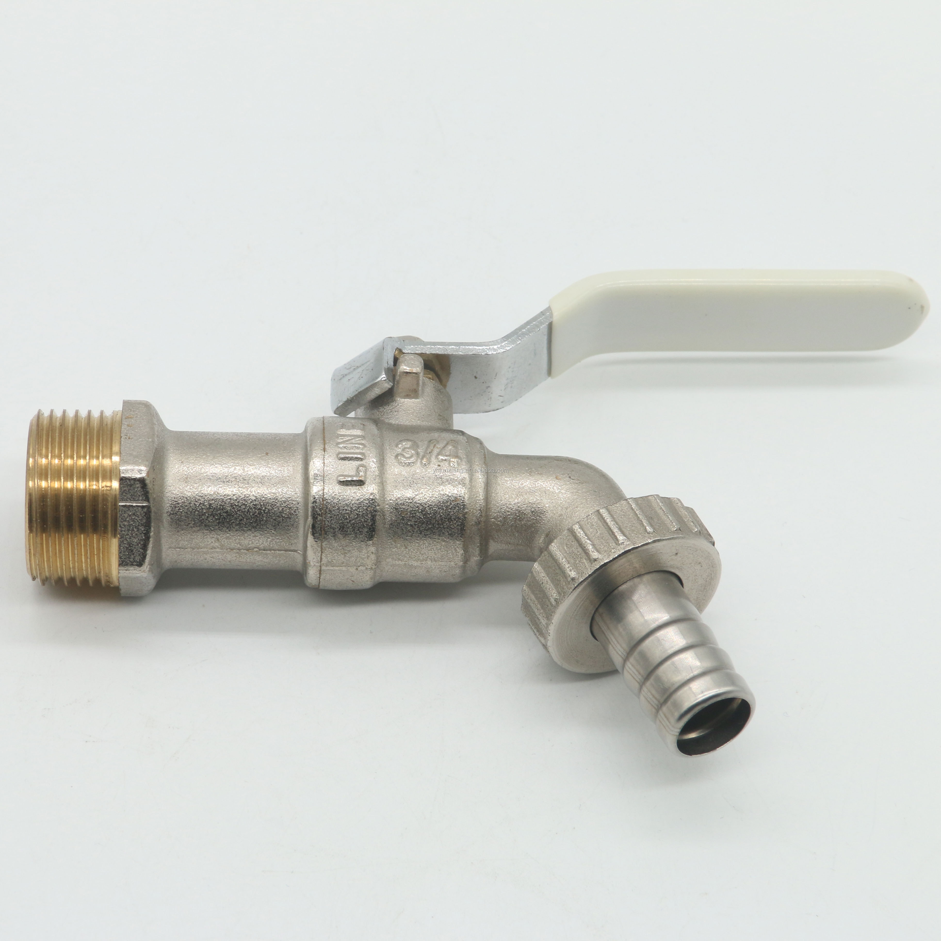 High Quality Brass Nickel Plated Ball Bathroom Water 1/2 Inch Bibcock Taps