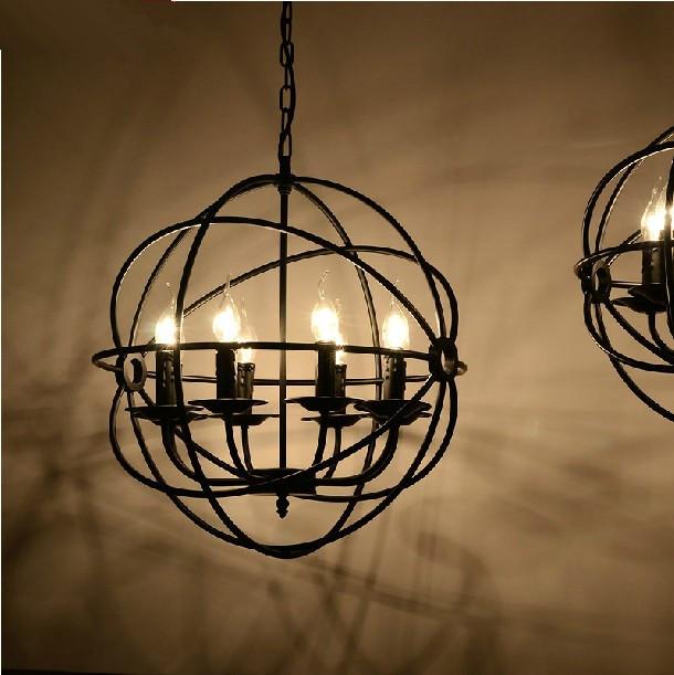 Vintage colgante de luz redonda estilo loft industrial - Lamparas estilo vintage ...