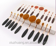New Arrival Tooth Brush Style 10pcs Oval Makeup Brush