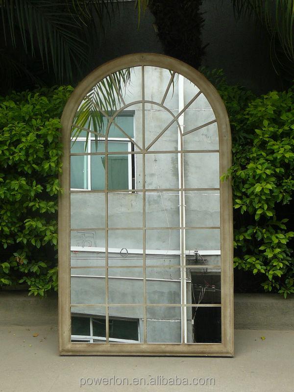 rustikalen rostigem eisen frame fenster garten spiegel. Black Bedroom Furniture Sets. Home Design Ideas