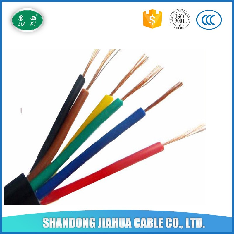 PVC Sheathed Flexible Control Cable , PVC Insulated , 2 Copper Cores Cable