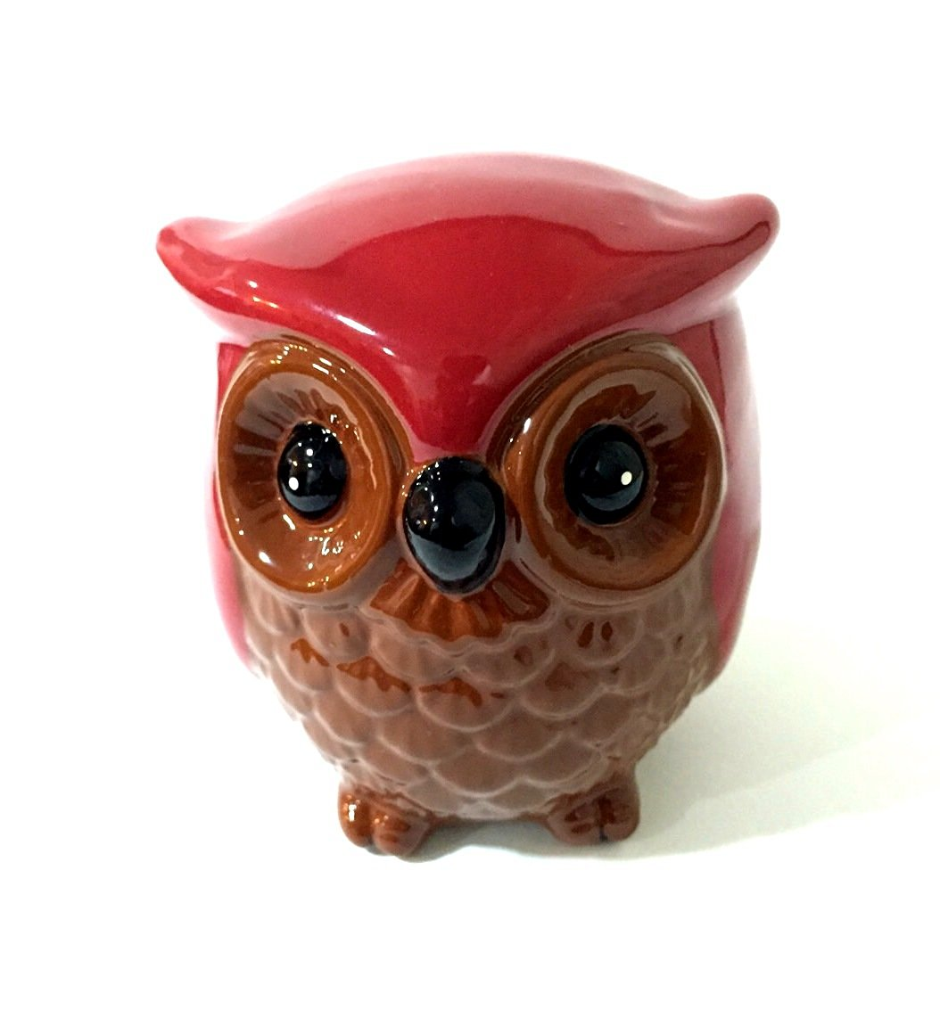 Ceramic Owl Coin Bank Money Bank Aprox. size 3 x 3 x 3.5 inches