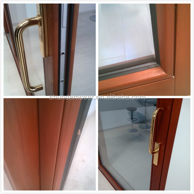 High Quality Exterior Solid Wood Patio Doors With Energy