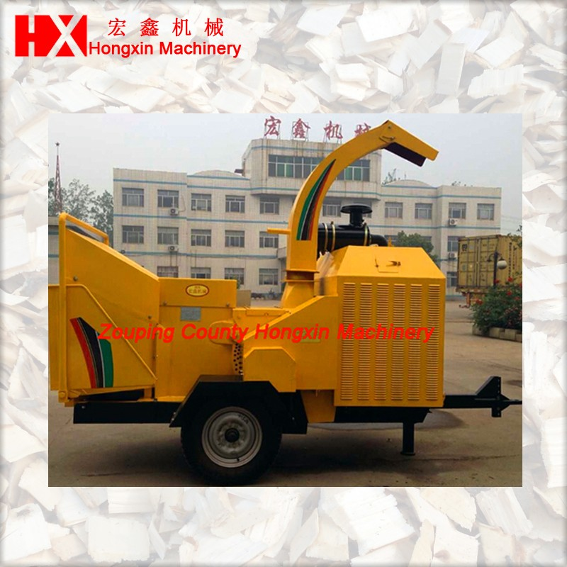 Brush chipper for landscaping job and tree care