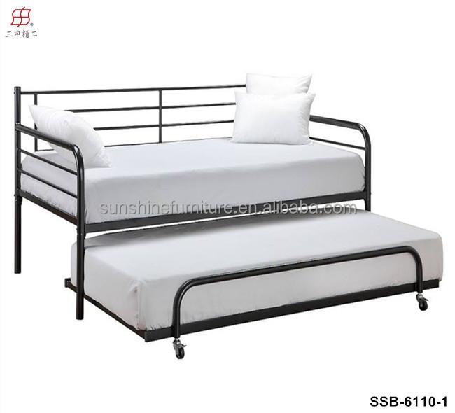Attraktiv Billige Modernen Schlichten Weißen Metall Tagesbett Mit Ausziehbett   Buy  Liege,Metall Tagesbett,Schlafcouch Mit Rollbett Product On Alibaba.com