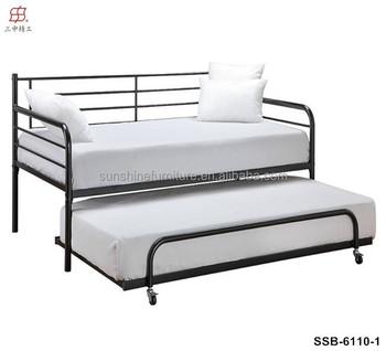 Billige Modernen Schlichten Weißen Metall Tagesbett Mit Ausziehbett