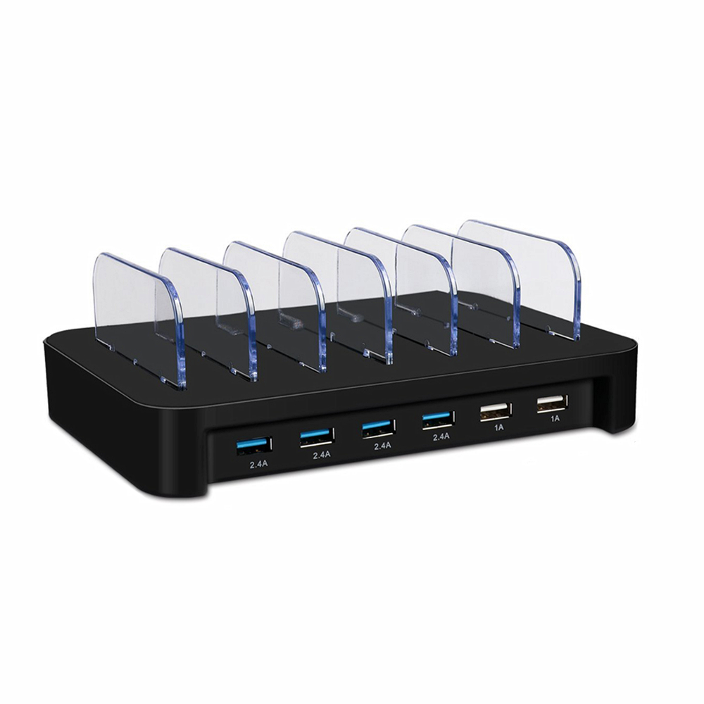 OEM 6 Port USB Cerdas Muti Port USB Pengisian Cepat Docking Station