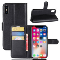 For iPhone X Case Luxury Wallet PU Leather Phone Case For iPhone X 8 7 6Plus Phone Case Book Flip Protective Cover Bag