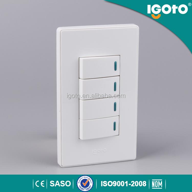 Igoto a517 tipos interruptores el ctricos 4 gang 1 way - Tipos de interruptores de luz ...