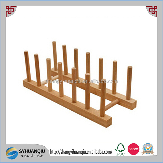 Natural cheap Wooden Plate Rack Dish Stand Kitchen Organizer Display Holder  sc 1 st  Alibaba & China Standing Plate Holder Wholesale 🇨🇳 - Alibaba