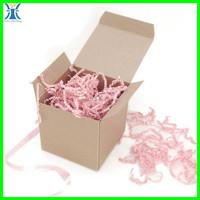 Yiwu New Arrived plain wholesale brown blank custom made kraft paper gift box