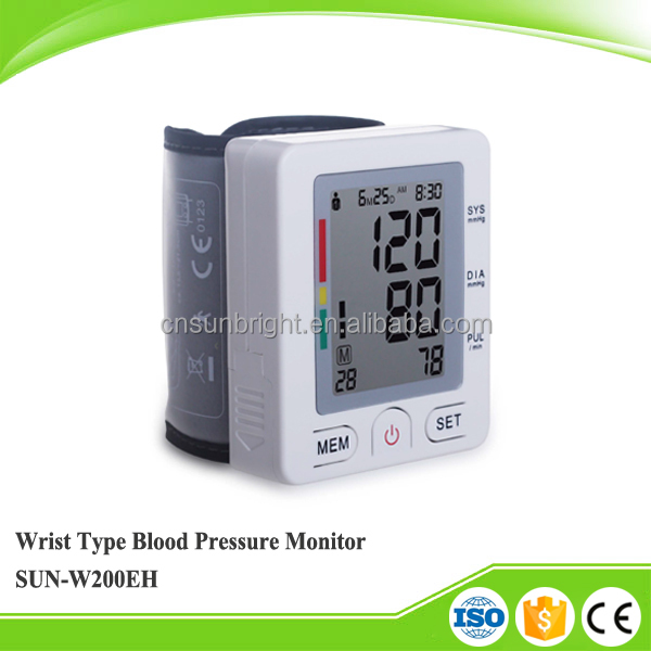 SunBright Medical Equipment Wrist Type Blood Pressure Meter Monitor