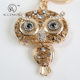 plush owl jewelry keychain