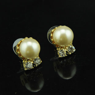 Elegant pearl stud earrings,Fashionable pearl earrings design,pearl craft stud earrings