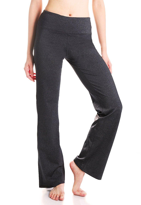 ac22f3c8f4d43 Yogipace (Petite/Tall Length) Women's Back Pockets Bootcut Yoga Pants  Bootleg Pants Dress