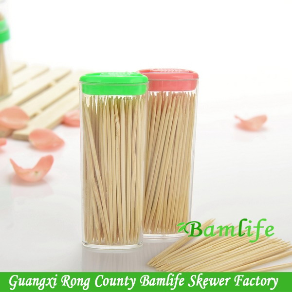 Top quality promotional ps box packed bamboo toothpicks