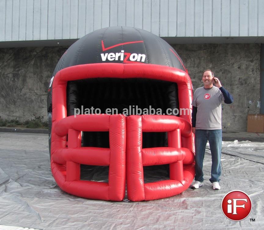 gonflable g ant casque de football am ricain pour la vente structures gonflables publicitaires. Black Bedroom Furniture Sets. Home Design Ideas