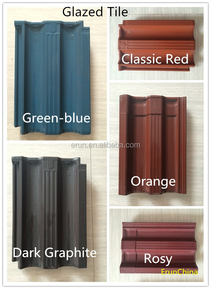 China kerala roof tile prices, hot sale color-coated clay roof tile