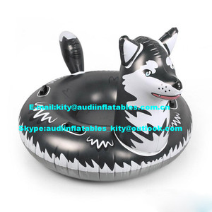 PVC Inflatable Wolf Snow Tube Sled for Kids and Adults