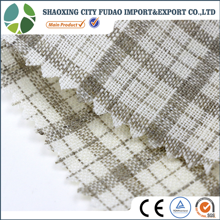 Small checks brilliant types of linen fabric clothing hemp fabric linen