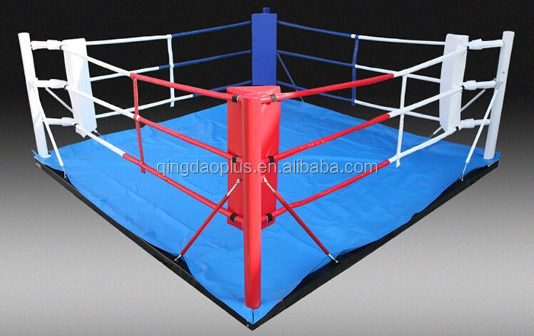 Floor Type Boxing Ring With Canvas And Mat Boxing Ring In