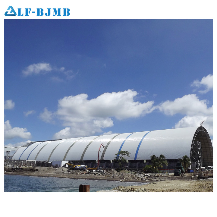 Bolt Joint Curved Metal Truss Roof Structures For Coal Power Plant