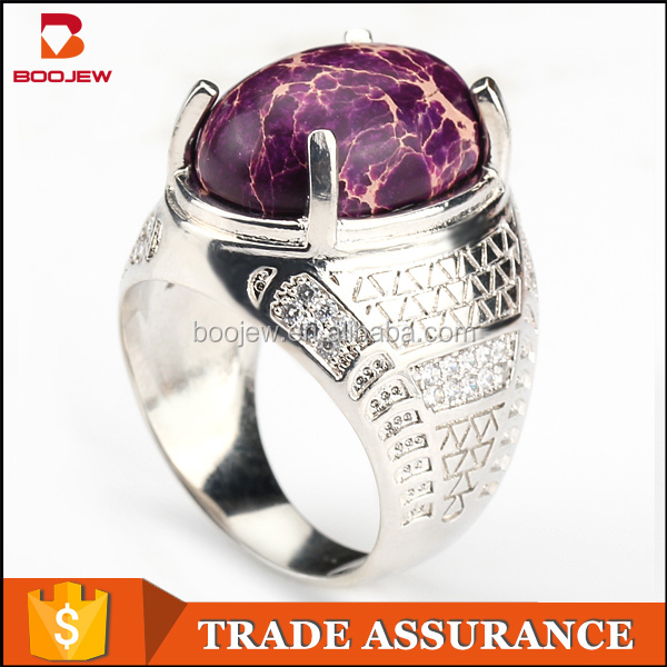 Chinese Manufacturers Fashion New Gold e Stone Silver Ring