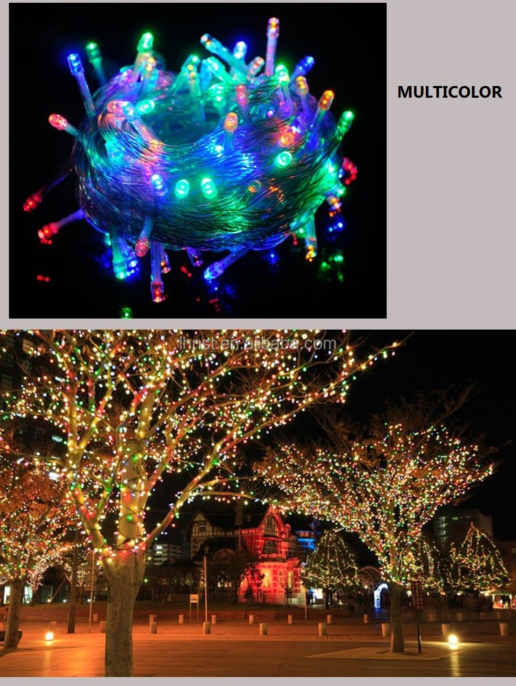 Outdoor Icicle  Lights RGB Twinkle Wedding,Xmas Fairy String in holiday lighting AC 220V