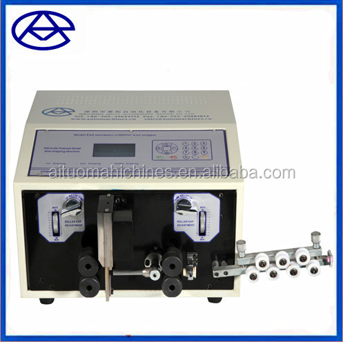 Electric wire stripper machine for thick wire , solid copper wire automatic cutting and stripping machine