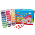 24 Colors 20g Packed Pearl Playdough Children 3D DIY Plasticine Play Doh Kit Magic Sand Handgum