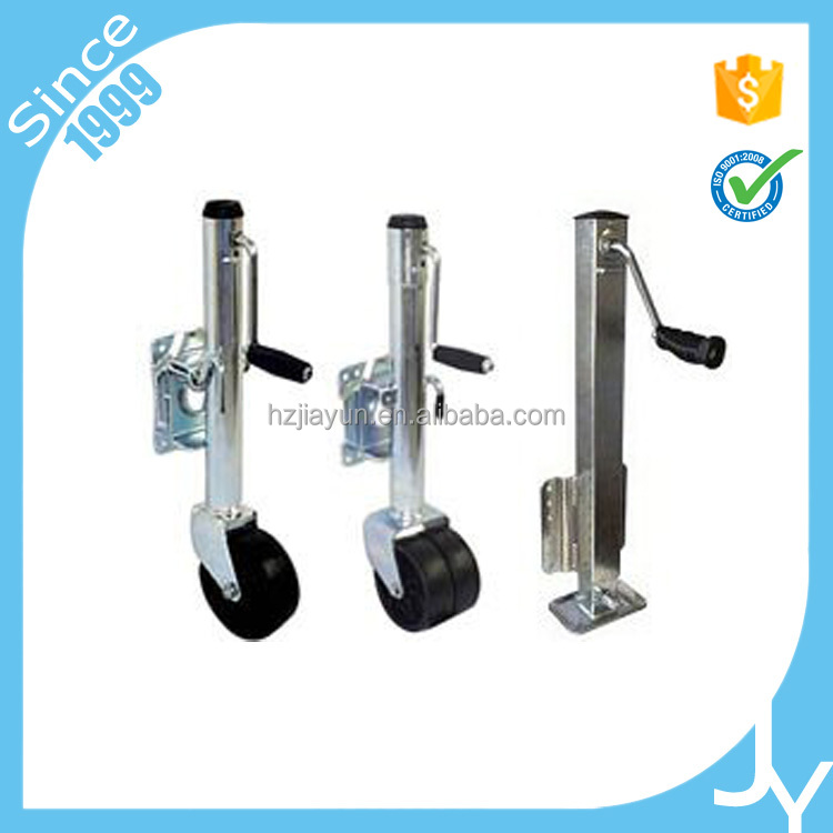 Professional custom trailer jack with rubber wheel