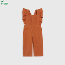 Toddler Kid Baby Girl Overalls Sleeveless Ruffle Summer Outfit Romper Long Pants Playsuit Jumpsuit