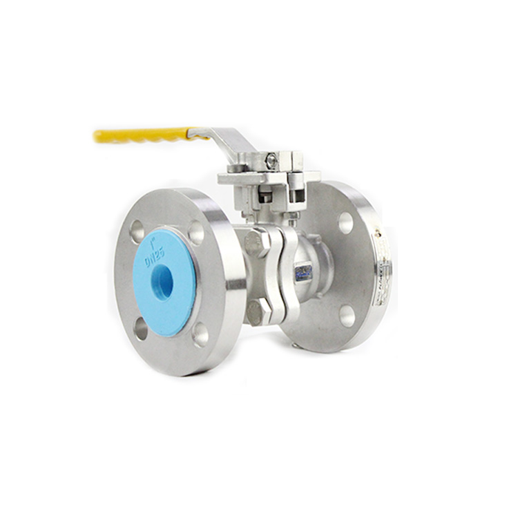 DN50 PN16 2piece 1000wog CF8M Stainlees steel Flanged Floating ball valves Made in Italy