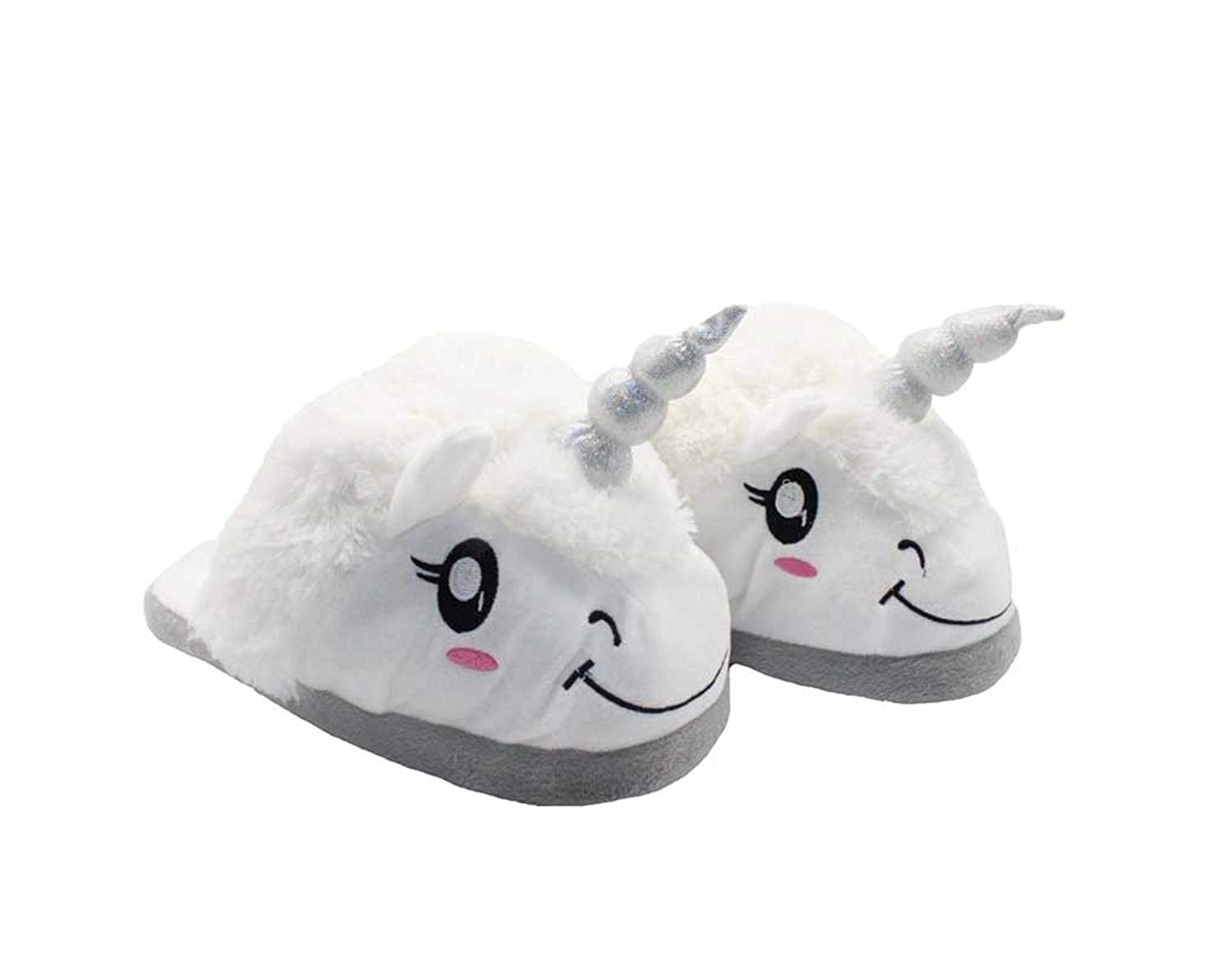 0227f7c37935 Get Quotations · FRALOSHA Winter Unicorn Slippers Plush Home Shoes Unicorn  Slippers for Grown Cartoon Indoor Chausson Licorne