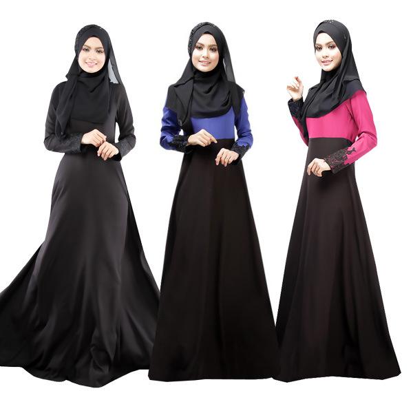 Get Quotations · Muslim Dress Women 2015 New Original Dubai Muslim Robe  muslim women abaya Arab female long dress d27607e05179