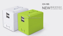 Universal Travel Adapter with USB for worldide Use