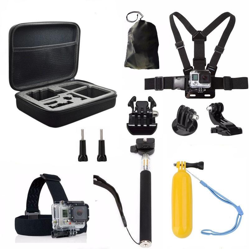 buy gopro accessories set go pro kit mount for sj4000 gopro hero 4 3 2 1 black. Black Bedroom Furniture Sets. Home Design Ideas