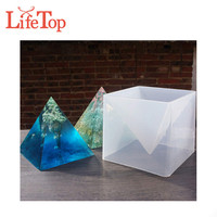 Large 15cm Silicone Pyramid DIY Molds Resin Craft Jewelry Epoxy Resin Mold Casting