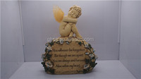 wholesale lovely resin fairy baby statue as door name plate