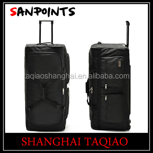 Cheap Large Size Soft Trolley Luggage With 3 Skating Wheel
