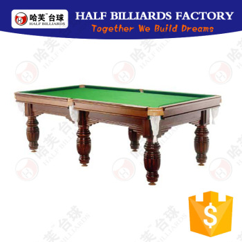Chinese Billiard Pool Table Factory Price Faithworthy Quanlity Carving 6  Legs Billiard Table