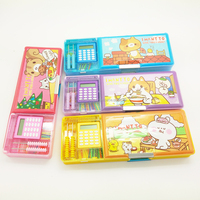 China factory wholesale kids multifunctional plastic pencil box with compartments and calculator