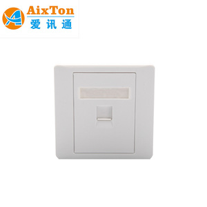 Aixton 86 Type Single Port RJ45 Network Cat5e Face Plate