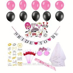 2017 Amazon Bachelorette party Supplies banner Veil Balloon And Sash Bride To Be Set